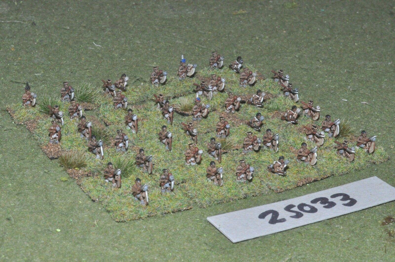 10mm colonial   zulu - warriors 48 figures - inf (25033)