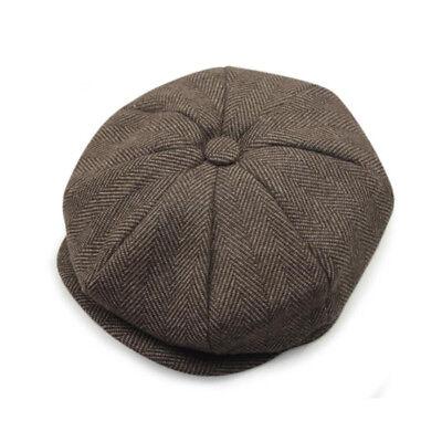 Mens Ladies Herringbone Baker Boy Caps Newsboy Hat Country Gatsby Ivy Flat Cap