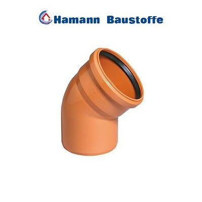 KG 30 Grad Bogen DN 315 KGB Kanalrohr Abflussrohr Kunststoff Abwass 27,95€//1EA