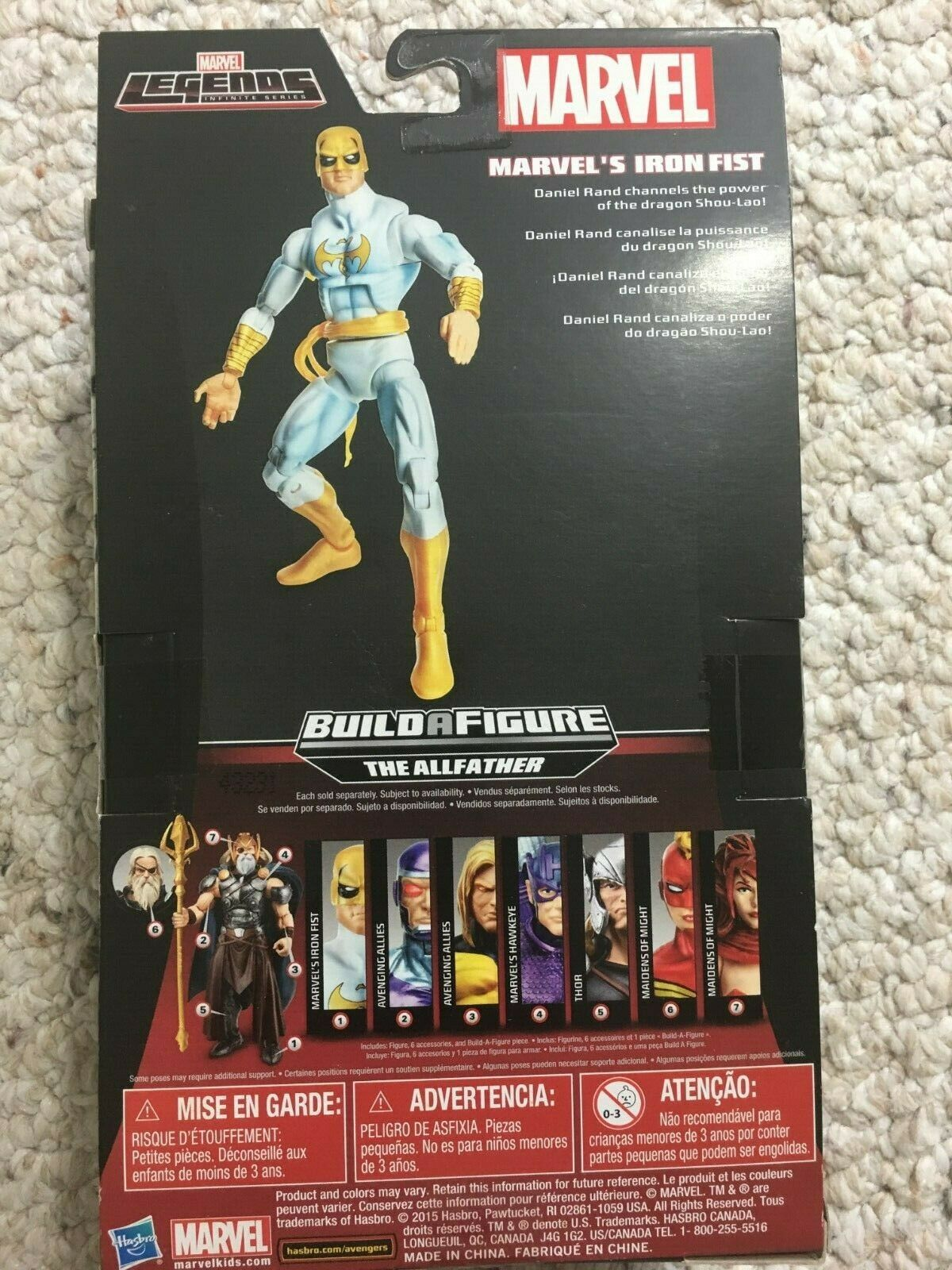 Marvel Legends Infinite Series The Allfather Build a Figure Collection 8Pc