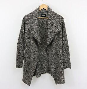Zadig-amp-Voltaire-Daphnee-Cardigan-Alpaca-Wool-Blend-Leather-Trim-Size-M