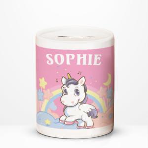 Personalised-Unicorn-Stars-Rainbow-Kids-Children-039-s-Savings-Money-Box-Gift-Idea