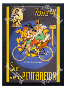 Historic-Dunlop-tyres-with-cyclist-Lucien-Petit-Breton-Advertising-Postcard