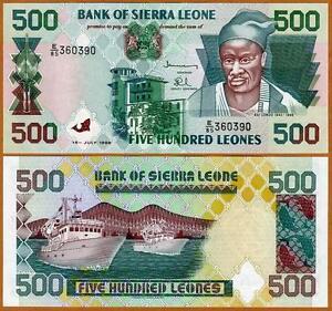 Sierra-Leone-Africa-500-Leones-1995-P-23a-UNC