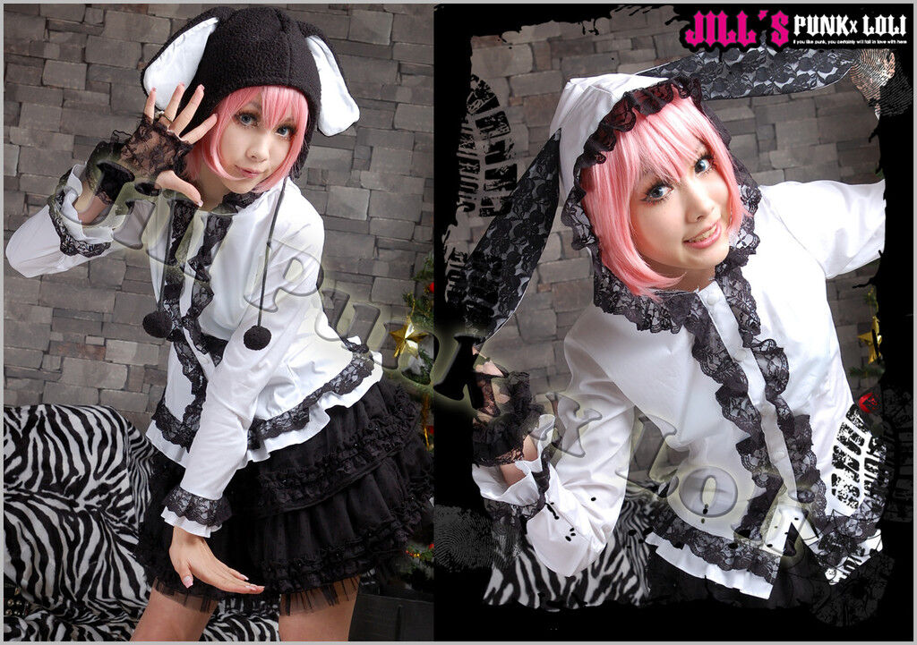 LOLITA cute miss bunny scalloped hoodie gretel shirt