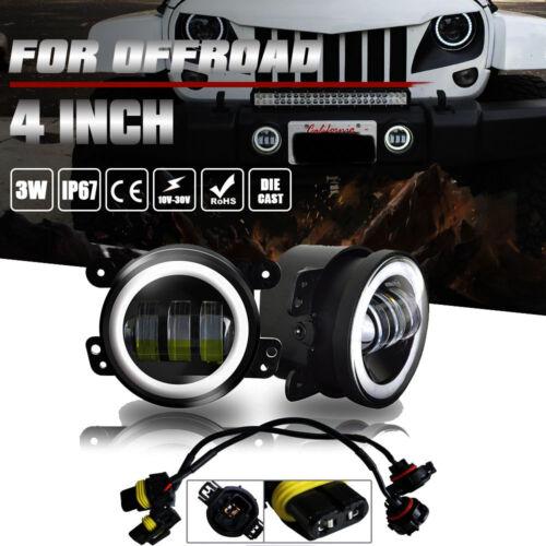 "For Jeep Wrangler JK TJ LJ 4/"" Led Work Fog Turn Light Bulb Halo Tractor Boat DOT"