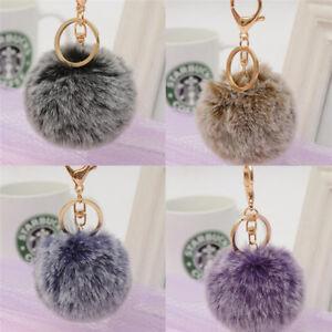 Women Bag Key Chains Fur Pom Poms Ball Keychain Keyring Bag Charm ... 5665b01d92