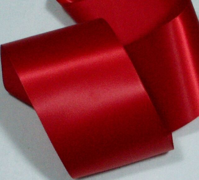 Single Sided Satin Ribbon RED 72mm or 3