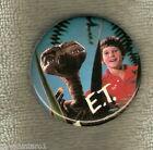 #D137. ET EXTRATERRESTRIAL MOVIE TIN BADGE - ET & BOY