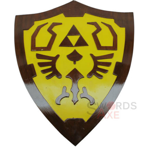 Legend of Zelda Link Wooden Shield Fan Made Replica Cosplay LARP Weapon Costume