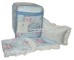 SIMPLY SHABBY CHIC Bouquet Rose FULL/ QUEEN COMFORTER SET POLYESTER Shams Pillow