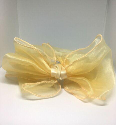En mousseline de soie Bow Bandeau Avec Bandeau 4 Couleurs Mariage Demoiselle d/'honneur bal courses