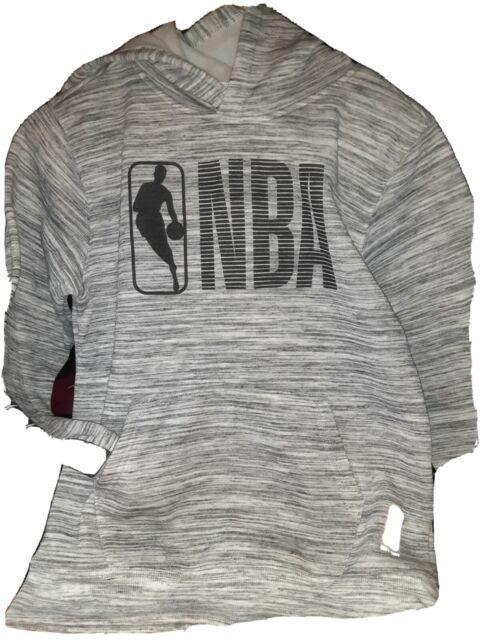NBA Logo Hoodie Gray Boys Sz L (14-16) | eBay