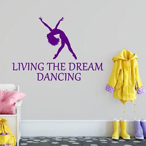 Dancing Sticker Living The Dream Dance Bike Wall Vinyl Print Decal Art Wall