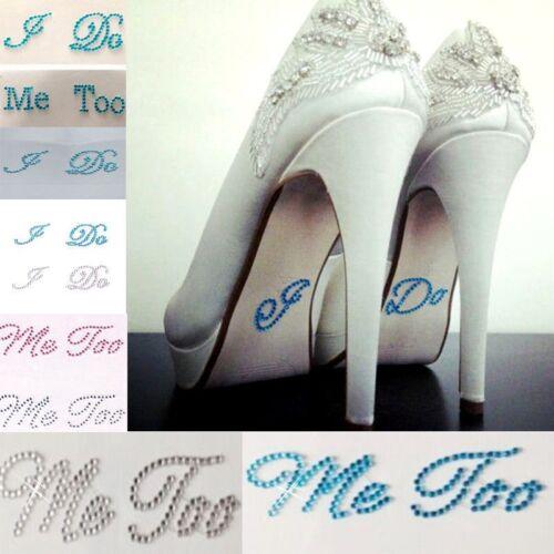 Wedding I DO ME TOO Set He/'s Mine Diamante Rhinestone Shoe Groom Bride Stickers