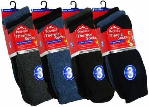 3 PACK MENS THERMAL HEAT WARM SOCKS THICK WINTER WORK HIKING UK 6-11