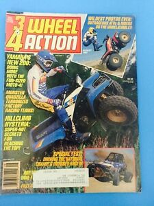 Vintage-3-amp-4-Wheel-Action-Magazine-August-1987-Dirt-Wheels-3wheeling