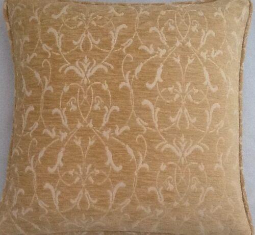 A 16 Inch Cushion Cover In Laura Ashley Allegra Gold Fabric