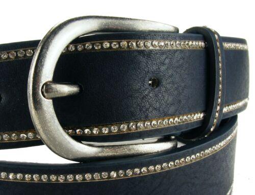 Cintura strass cintura da donna glitzergürtel Cintura Jeans Cintura Blu Marrone Grigio ba1