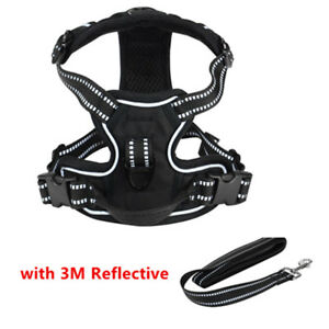Dog Harness-3M Reflective Outdoor Adventure Pet Vest with Padded Handle