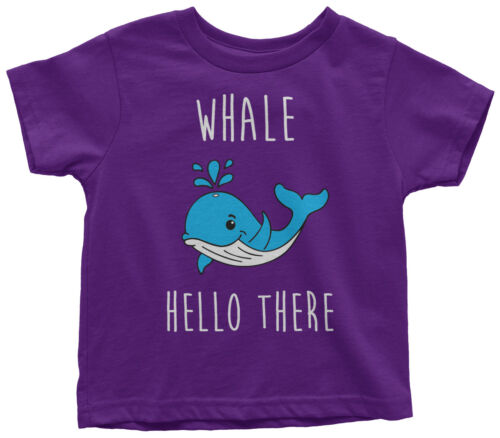 Details about  /Whale Hello There Toddler T-Shirt Funny Saying Birthday Party Gift