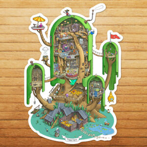 Adventure-Time-Finn-Jake-Giant-Tree-House-Die-Cut-Wall-Car-Window-Decal-Sticker
