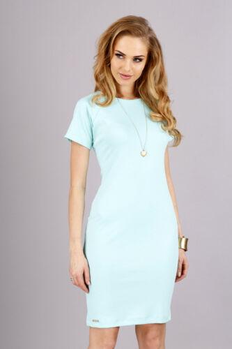 Elegant Women/'s Dress Crew Neck Short Sleeves Tunic Sizes 8-16 FA285