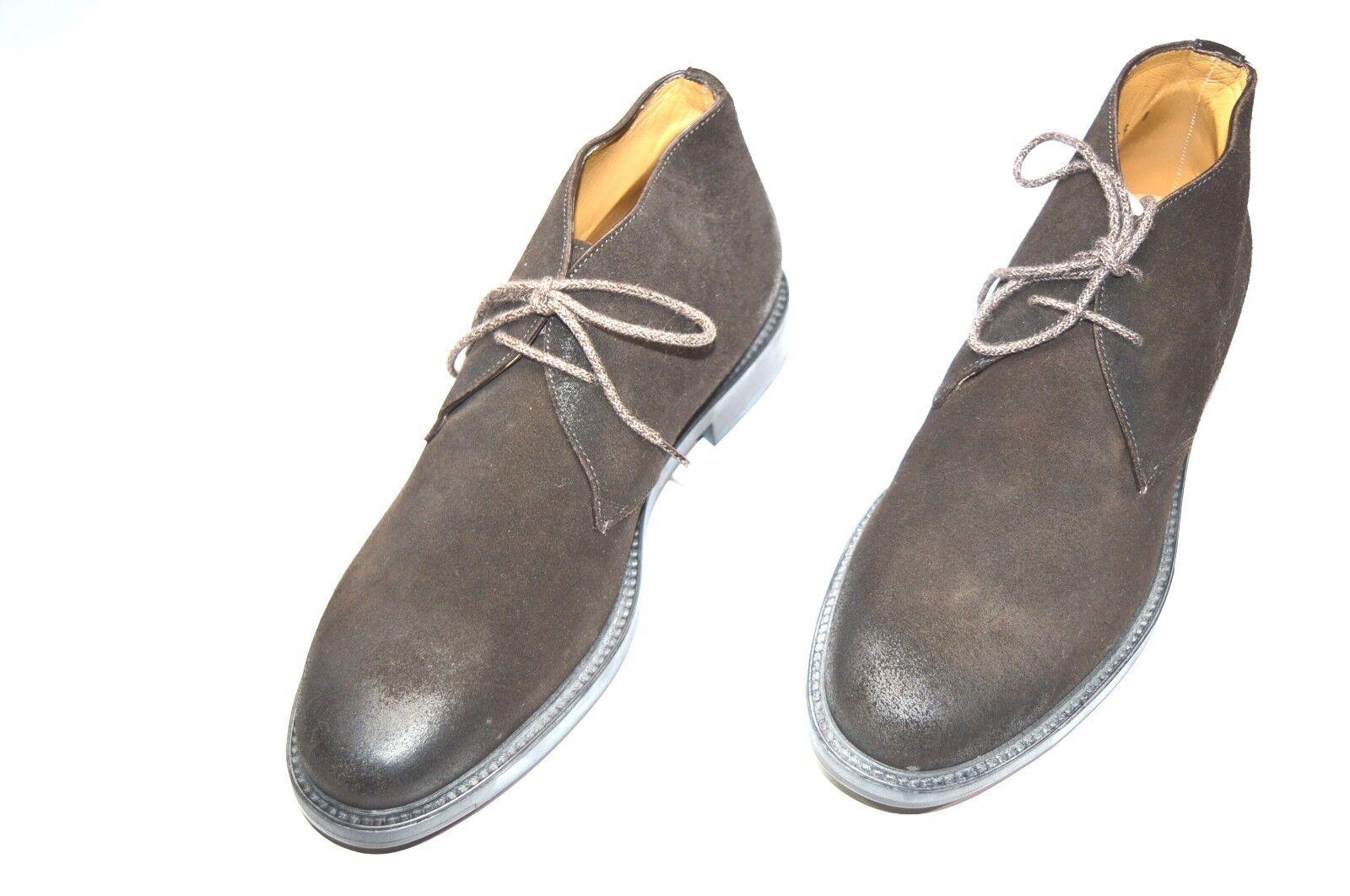 NEW SANTONI Dress Leather Shoes  SIZE Eu 41.5 Us 8.5 (R52)