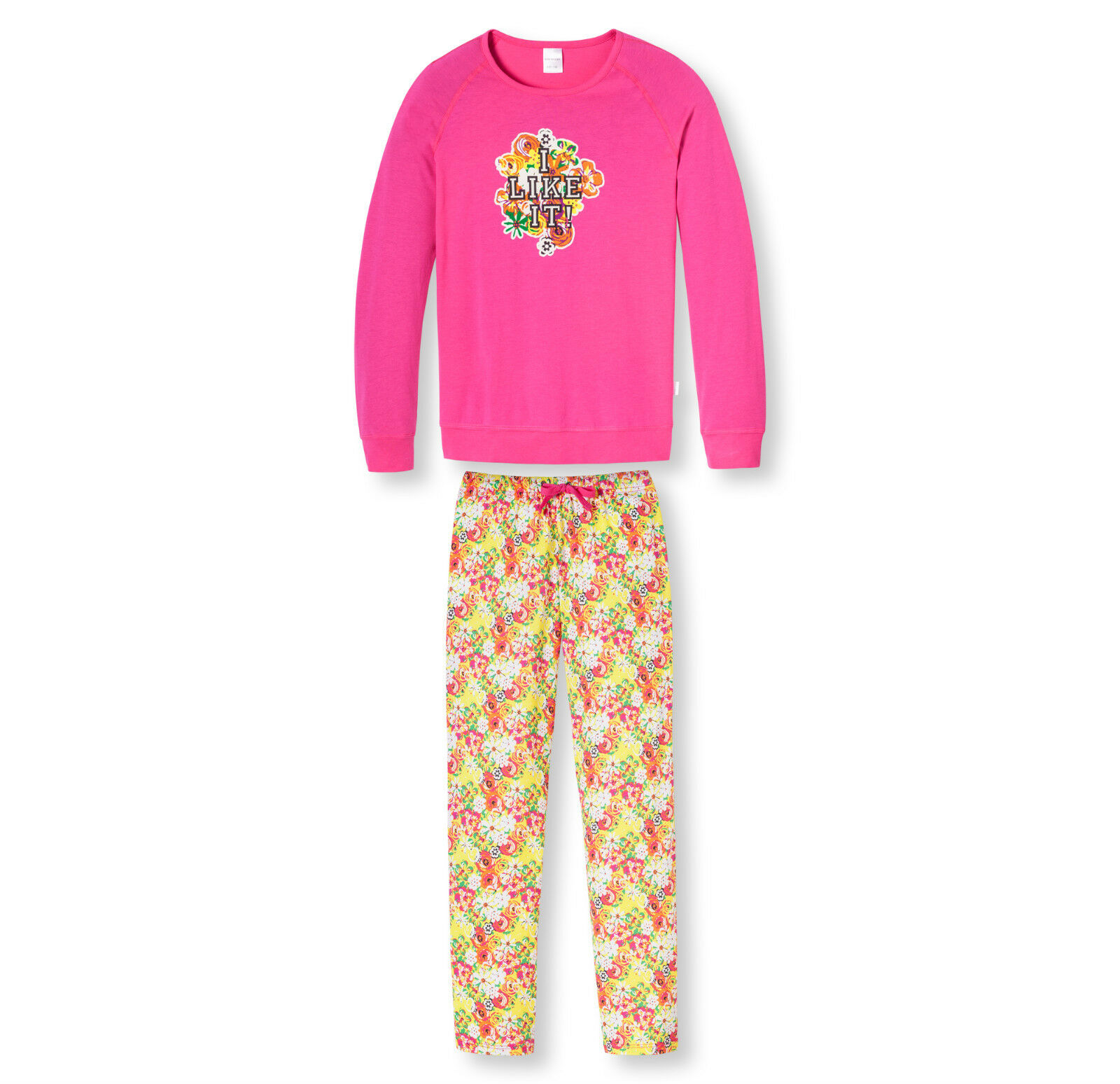 Schiesser fille pyjama long motif retro taille 140 152 164 176 pyjama NEUF