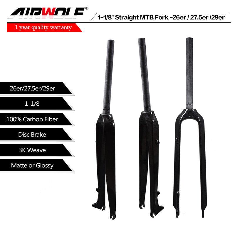 27.5er 3k Matte MTB Carbon Fork, OEM MountainFahrrad Fork Straight Pipe 28.6mm-490g