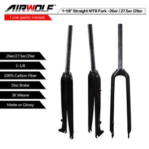 26-27-5-29er-3K-MTB-Carbon-Gabel-OEM-Mountainbike-Gabel-gerade-Rohr-28-6mm-490g