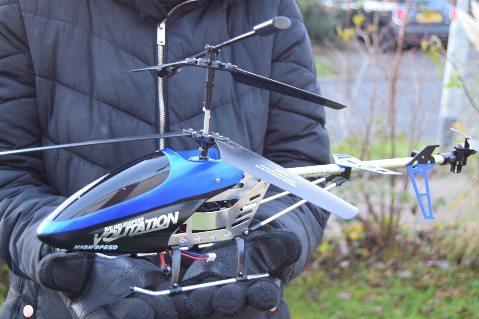 LARGE DOUBLE HORSE METAL FRAME GYROSCOPE VOLITATION ALLOY HELICOPTER 9053G