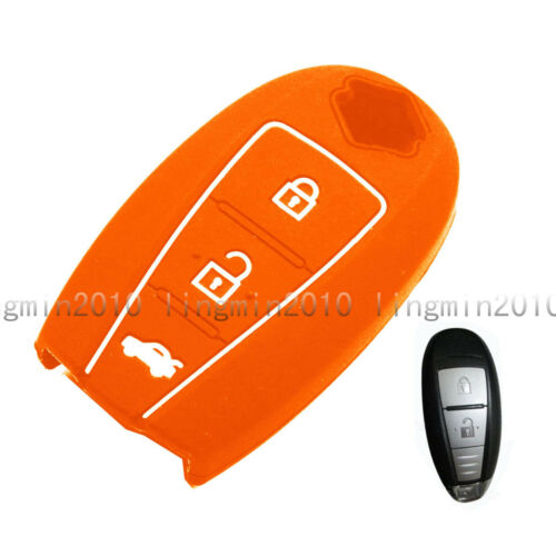 3 BTN Silicone Cover Key Case Shell Jacket For Suzuki Swift Kizashi SX4 S-Cross