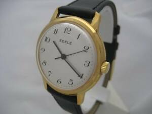 NOS-NEW-VINTAGE-MECHANICAL-HAND-WINDING-ANTI-MAGNETIC-EDELE-MEN-039-S-ANALOG-WATCH