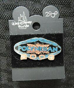 Walt-Disney-World-2000-034-Polynesian-Resort-034-ENAMEL-PIN-minty