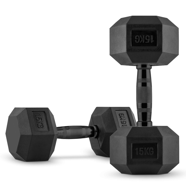 CS Coppia Manubri Pesi Allenamento Palestra Set Muscoli Addominali Addominali Addominali Panca 2x15 kg e5ffe5