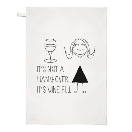 Il n/'est pas une gueule de bois il est vin Grippe Thé Serviette Dish Cloth-boisson cocktail drôle