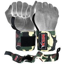 MRX Weight Lifting Training Wraps Wrist Support Gym Fitness Bandage Camo Green