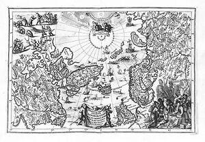 Antique maps, Regionum circum polarium Lapponiae, … Scherer, 1710