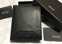 HUGO BOSS WALLET '50248816-ADONIDE' BI FOLD BLACK LEATHER COIN NOTE GIFT BOXED