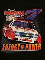 Hooters Mens Tshirt Racing Energy Is Power With Tags Large Black