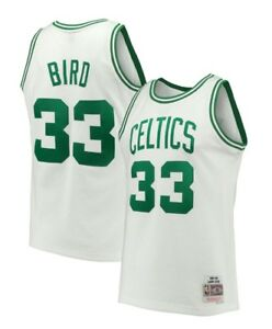 7daa7575d327 Larry Bird  33 Boston Celtics Mitchell   Ness NBA Mesh Throwback ...