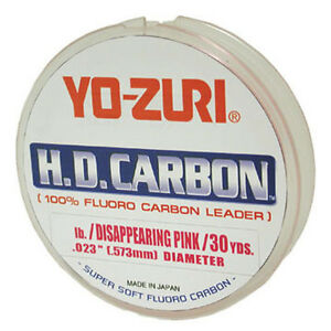 Yo-Zuri-HD-Fluorocarbon-Leader-Pink-30yds