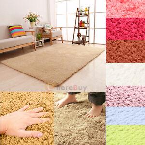 Fluffy-Rugs-Anti-Skid-Shaggy-Area-Rug-Dining-Room-Home-Bedroom-Carpet-Floor-Mat