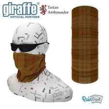 Ulster Brown District Tartan Multifunctional Headwear Neckwarmer Snood Bandana