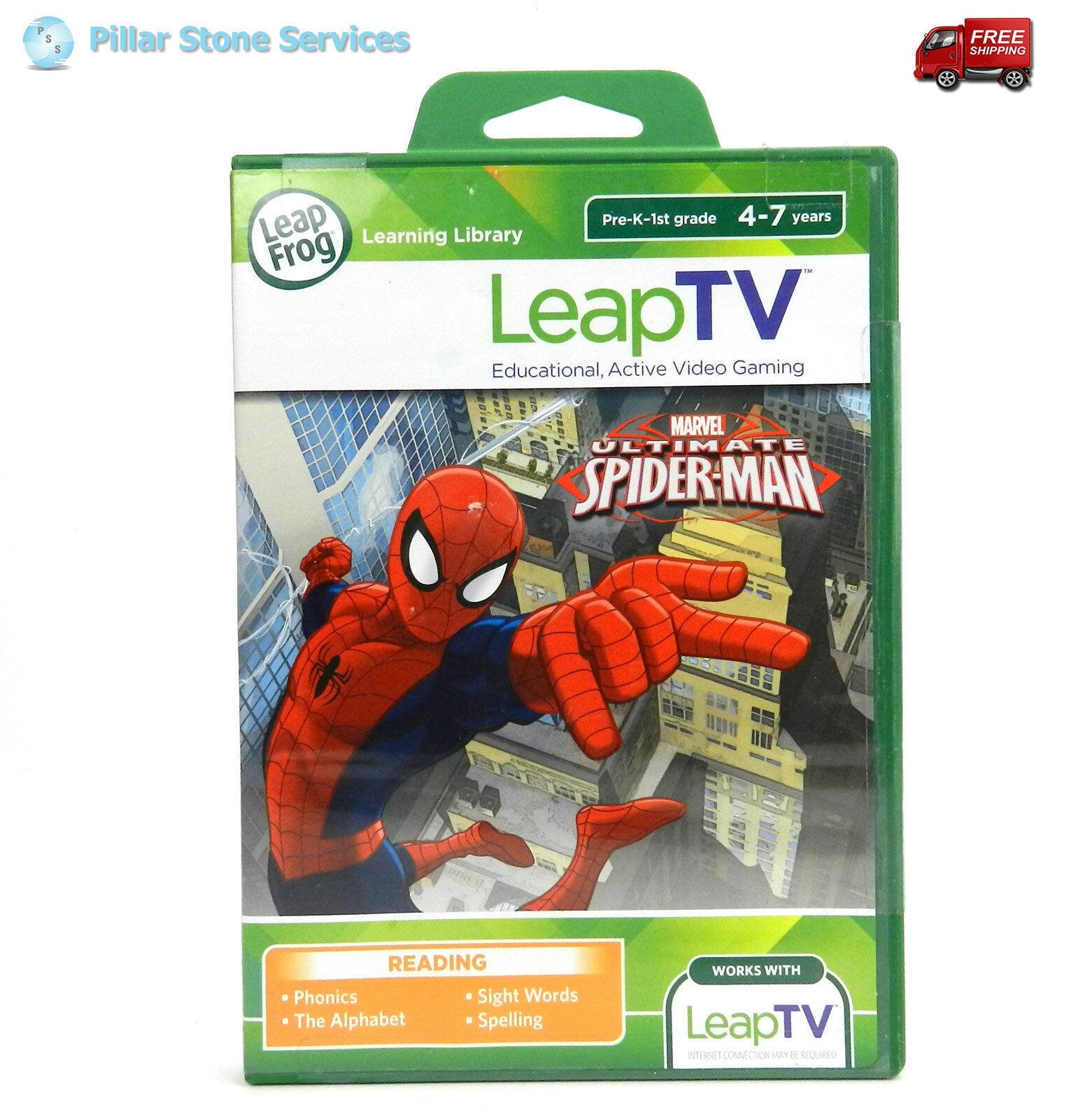 NEW LeapFrog LeapTV Learning Game Ultimate Spider-Man Sinister Six Showdown