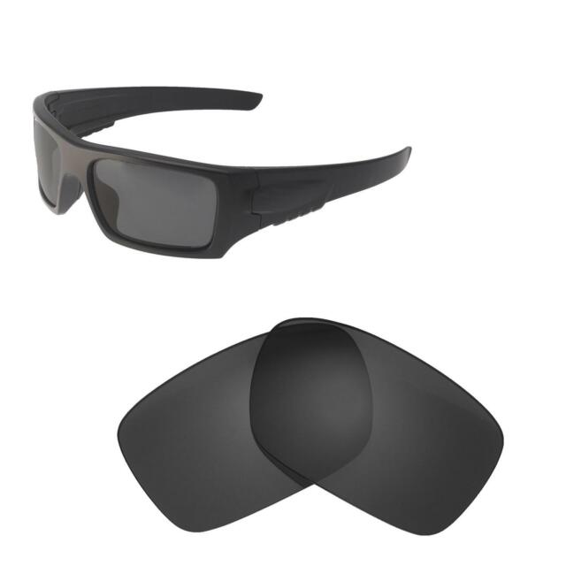 12c54cbf563 Walleva Black Polarized Replacement Lenses for Oakley DET Cord Sunglasses  for sale online