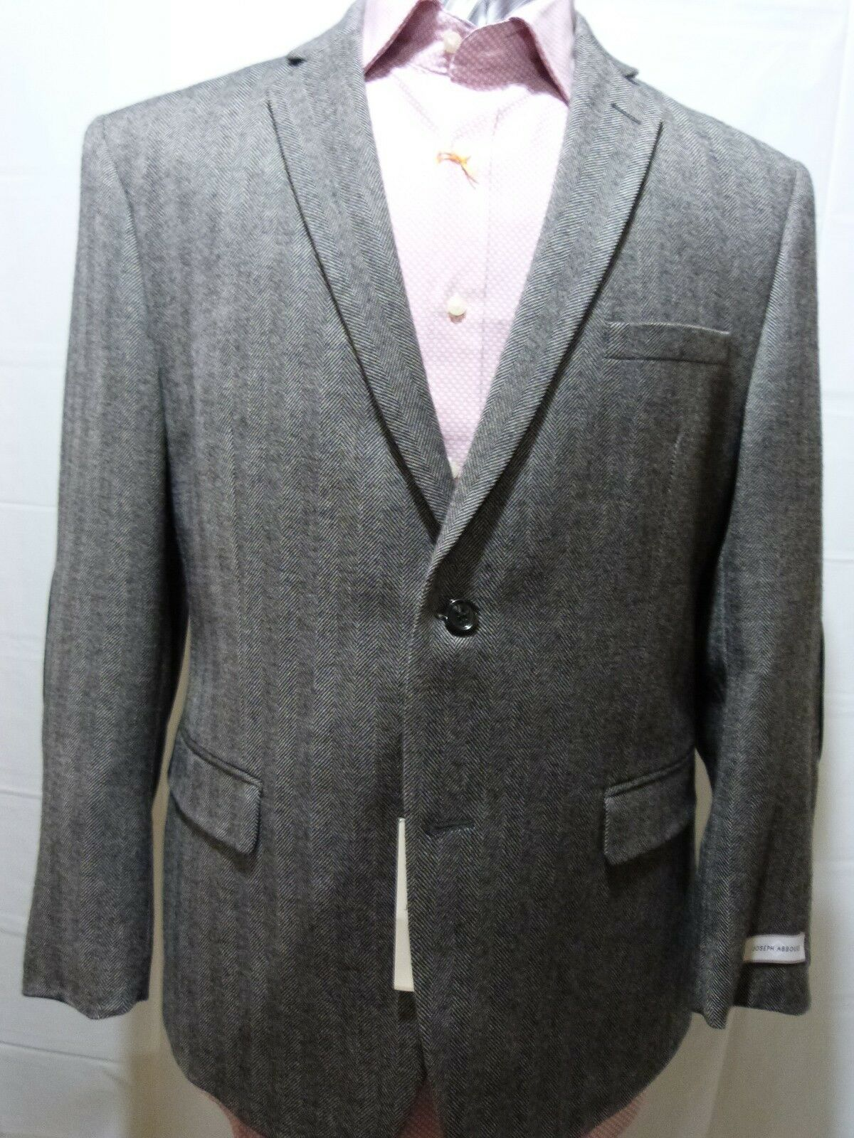 Joseph Abboud Uomo Elbow Two Button,Sport Coat with Elbow Uomo Patches, Gris, 42S, NWT 283e16