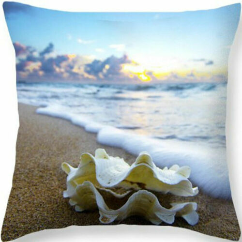"Waist Cushion Case Cover Pillow Cotton Home 18/"" Bed Sofa Linen Car Creature Sea"