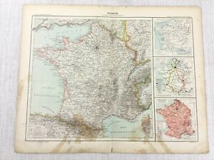 1898-French-Map-of-France-Political-Administrative-Regions-19th-Century-Antique